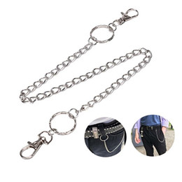 Trouser chain online shopping - Long Metal Wallet Belt Chain Rock Punk Trousers Hipster Pant Jean Keychain Silver Ring Clip Keyring HipHop Jewelry