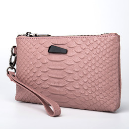 wallet brands for ladies 2019 - Designer Brand New 2018 Genuine Leather Day Clutches Crocodile Pattern Cellphone Bag for Women Ladies' Clutch Walle