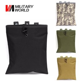 ammo pouches 2019 - Tactical Utility Molle Dump Magazine Pouch Hunting Recovery Drop Pouch Accessories Belt Gun Ammo Foldable Bag cheap ammo