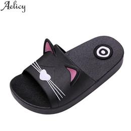 $enCountryForm.capitalKeyWord Australia - Womail 2019 PVC Kids Girls Boys Home Slippers Cartoon Cat Floor Family Shoes Beach Sandals Summer Baby Shoes casual shose