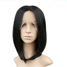 $enCountryForm.capitalKeyWord NZ - Short Bob Synthetic Lace Front Wig Straight Synthetic Hair Heat Resistance Fiber Best Quality Lace Glueless Frontal Wigs Natural Black