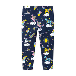 $enCountryForm.capitalKeyWord UK - Unicorn kids leggings baby girl cotton long pants new fashion cartoon bottoms leggings pants top quality