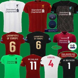 $enCountryForm.capitalKeyWord UK - 2019 2020 New Mohamed Salah soccer jersey 6 trophy 2019 MANE Tops VIRGIL football shirt camiseta FIRMINO Kids SHAQIRI BECKER Black maillot