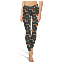 BamBoo tights online shopping - Miami Hurricanes football Orange and Green Yoga Pants High Waist Yoga Pants Womens Gym Yoga Pants Elastic Fashion Tights Camouflage Leggin