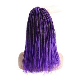 "Crochets For Hair Australia - Senegalese Twists Crochet Hair Micro Long Havana Mambo Twist Crochet Braids For Black Women3 Packs 18""(T1B Purple)"