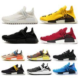 19f96db3080e0 Designer human race Hu trail pharrell williams Men Running Shoes yellow  black white Women Sneaker Trainer Sports Men Jogging Shoe eur 36-45