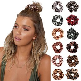 rubber hair braiding 2020 - Women Girls Leopard Color Cloth Elastic Ring Hair Ties Accessories Ponytail Holder Hairbands Rubber Band Scrunchies MMA2
