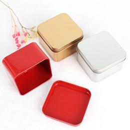 $enCountryForm.capitalKeyWord Australia - 2019 quare Tea Candy Storage Box Wedding Favor Tin Box Sundries Earphone Cable Organizer Container Receive Box Gift Case LX7529