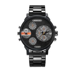 Big Case Wrist Watches Australia - Classy 52MM Big Case Quartz Watch For Men Black Stainless Steel Band Casual Mens Wrist Watches Man Waterproof Relogio Masculino