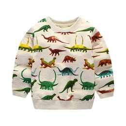 $enCountryForm.capitalKeyWord Australia - Baby boys long sleeve cotton t shirt high quality children clothing printed dinosaur t shirt toddler tops for kids boy