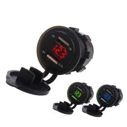 $enCountryForm.capitalKeyWord Australia - 12V 24 Dual USB Port Car Cigarette Lighter Socket Splitter Charger LED Display