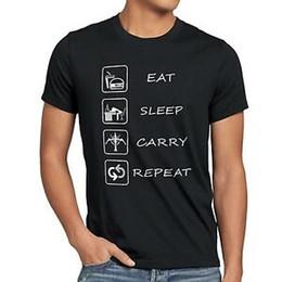 League Legends Lol Shirt Australia - Eat Sleep Carry Repeat Summer T-Shirt legends league lol carry gamer dota game