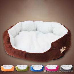 $enCountryForm.capitalKeyWord Australia - 1Pcs 50*40cm Super Cute Soft Cat Bed Winter House for Cat Warm Cotton Dog Pet Products Mini Puppy Pet Dog Bed Soft Comfortable