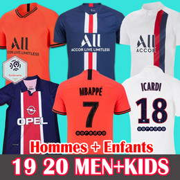 White full shirt online shopping - 19 Maillots de football PSG Soccer Jersey Paris MBAPPE ICARDI MARQUINHOS Jersey camisetas WOMEN shirt MEN KIDS sets