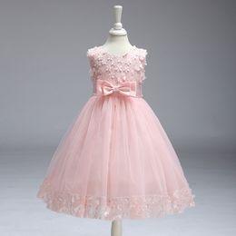 $enCountryForm.capitalKeyWord Australia - 2019 Children's clothing baby girls dresses bow kids foreign trade dress flower girl princess dress factory girls frocks