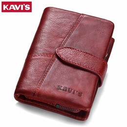 Wallet Perse Australia - 2019 Genuine Leather Women Wallet And Purses Coin Purse Female Small Portomonee Rfid Walet Lady Perse For Girls Money Bag