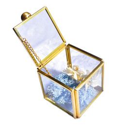 Plant Pouch online shopping - Geometrical Clear Glass Jewelry Box Jewelry Organize Holder Plants Container