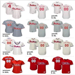 a55f07848 2019 custom Men s women youth Philadelphia Phillies Jersey  2 JP Crawford 4  Scott Kingery home blue white kids girls Baseball Jerseys