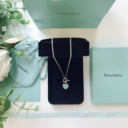 Chain Counter Australia - 2019 new peach heart blue heart brand necklace classic wild counter new style wild single productis