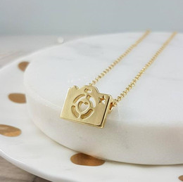 $enCountryForm.capitalKeyWord Australia - Cute Digital Photo Camera With Love Heart Lens Necklace Geometric Hipster Mini Camera with Star Pendant Chain Necklaces