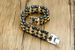 Motor Bicycles Australia - Top quality mixed order brand new men's stainless steel bicycle-style bracelets fashion accessaries motor chain bracelet body jewellery 484