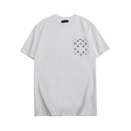 Mens Designer T Camisas Da Marca de Moda Imprimir Blusas Casual Tees de Verão de Manga Curta O Pescoço Tshirt S-2XL Preto Branco LN6419 venda por atacado