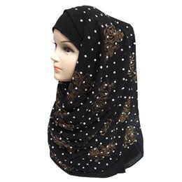 $enCountryForm.capitalKeyWord NZ - New Thick Bubble Chiffon Glitters Floral Dots Puff Print Women's Muslim Islamic Hijab Scarf Shawl Head Wrap Plain Colours