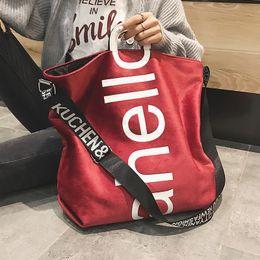 Tote Large Australia - New Large-capacity Velvet Handbag Fashion Lady Letter Shoulder Crossbody Bag High Quality Women's Shopping Bag Tote Y19061803