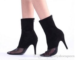 $enCountryForm.capitalKeyWord Australia - 2018 Black suede booties pointed toe ankle boots thin heels high heel air ladies short boots real pics