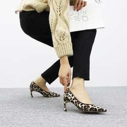 $enCountryForm.capitalKeyWord Canada - Spring style hot sale personality and comfortable wild 7CM high heels sexy leopard print non-slip point stiletto women's shoes