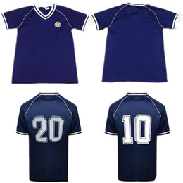 765a295bb 1982 Scotland retro soccer jersey home blue world cup 82 83 Dalglish  Strachan Miller Souness Hansen George Wood football shirts thailand xxl