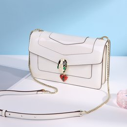 $enCountryForm.capitalKeyWord Australia - Belle2019 Genuine Wind Woman Patent Leather Snake Lock Catch More Interlayer Chain Single Shoulder Span Small Square Package
