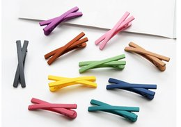 Child hair produCts online shopping - New Products Children Accessories Girl Hair Accessories Transparent Barrettes Cross Hairpin Multicolor Hair Claws Free DHL