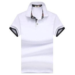 $enCountryForm.capitalKeyWord NZ - Htlb Men's Summer Business Casual Brand New Fashion Turn-down Collar 100% Cotton Soft Polo Shirts Tops&tees Men Q190525