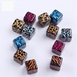 Pattern Decor Australia - Leopard Pattern Square Bead DIY Jewellery Making Decor Leopard Print Square Cube Acrylic Beads Jewelery Necklace Earrings DIY Making LJJW100