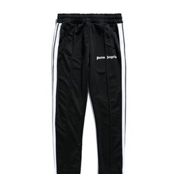 Mens lightweight casual trousers online shopping - Palm Angels Mens Track Pants SS Spring And Summer New Fashion Casual White Striped School Pants Trousers