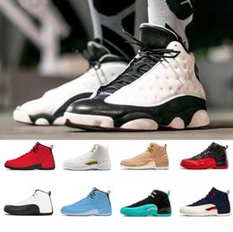 Blue Sky Game Australia - 2019 Hot High quality 12 Gym Red 12s designer shoes basketball shoes Black Blue Michigan WINGS bulls Flu Game zapatos Sports trainer sneaker