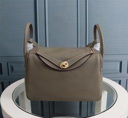 Venta al por mayor de Moda mujer tote francia bolso de cuero real lin dy bolso tamaño 26 cm 30 cm vienen con bolsa de polvo envío de la gota