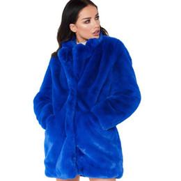 Plus Size Faux Fur Clothes Australia - Winter Warm Fur Jackets Women Long Sleeve Thick Plus Size Coat Faux Fur Clothing Female 4 Colors