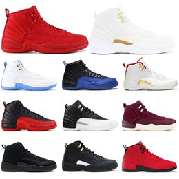 $enCountryForm.capitalKeyWord Australia - 2019 mens basketball shoes 12s Game Royal GYM RED O White TAX University Of Blue Bulls WNTR MICHIGAN mens sports sneakers size 7-13