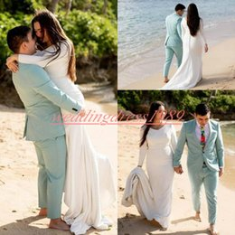 robe sizes chart NZ - Charming Long Sleeve V-Neck Mermaid 2019 Wedding Dresses Garden Plus Size Simple Summer Bride African Robe de mariée Bridal marriage Gowns