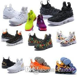 75db03b67c3 Ashes Ghost Florale quality Lebrons 15 Basketball Shoes men Lebron shoes  Sneaker 15s sports Shoes James 15 size 7-12