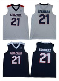 ef3063073f72 NCAA 21 Rui Hachimura Gonzaga Bulldogs College Basketball Jersey Blue White  Bulldogs Hachimura Jerseys John Stockton Jersey 12 High School