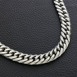 Chain whips online shopping - Fashion thick wide double buckle double weave six face grinding titanium steel men and women necklace whip chain