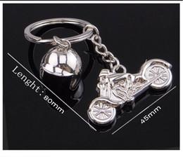 $enCountryForm.capitalKeyWord Australia - Fashion Charm 3D Motorcycle Helmet Shaped Keychain Key Rings For Men Car Women Bag Key Chain Souvenirs Custom logo Free DHL G660Q A