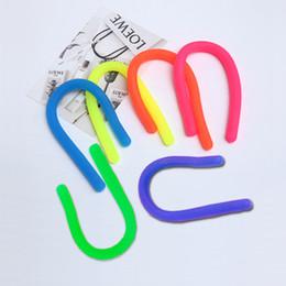 $enCountryForm.capitalKeyWord Australia - Magic noodle string fidget stretch string elastic neon slings Environmental Decompression Children Adult Toys fluo color mix