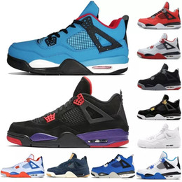 sports shoes d041b 5c038 Tätowierung 4 Singles Tag 4s Basketballschuhe Männer Pure Money Royalty Weiß  Zement Raptors Schwarze Katze Bred Fire Red Herren Turnschuhe