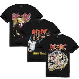 676b3972 S-3XL AC DC Print Short Sleeve T-shirt Men 100% Cotton Black Casual T-Shirts  Hard Rock Club Tee ACDC Tops