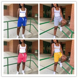 Neck yoga online shopping - Women Champions Letter Sleeveless T Shirt Vest Shorts Pants Summer Tracksuit Outfit Piece Set Sportswear Sports Yoga Gym Suits A4801 Hot