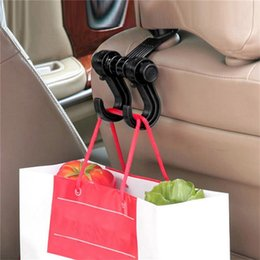 Discount cloths for cars - Car Seat Back Headrest Dual Hook Holder Plastic Hanger Fit For Bag Purse Cloth Accessorie car seat Back protector cover